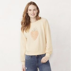 Lauren Conrad Strawberry Graphic Sweatshirt NWT
